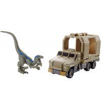 Matchbox Jurský svět Dino transportéři Armored Raptor Hauler