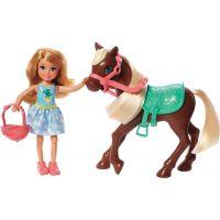 Mattel Barbie Chelsea a poník tmavě hnědý