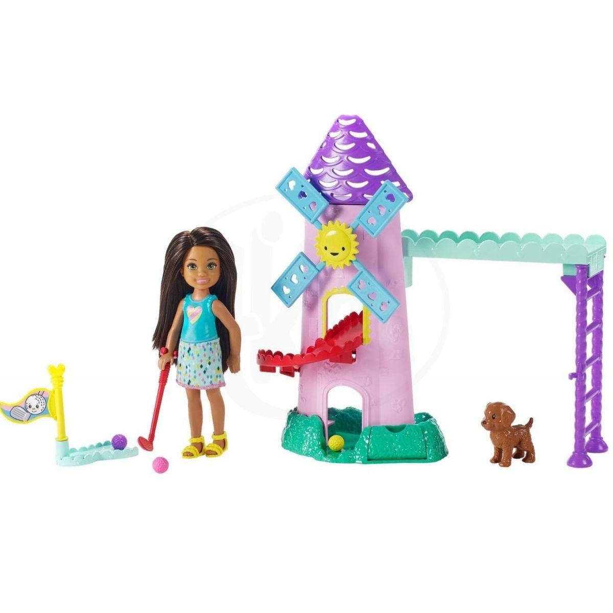Mattel Barbie Chelsea s doplňky větrný mlýn