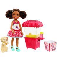 Mattel Barbie Chelsea Vaření a pečení červený stánek Popcorn