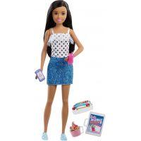Mattel Barbie Chůva černovláska v sukni