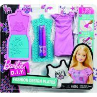 Mattel Barbie D.I.Y. návrhářské módní šablony Růžovo-fialová
