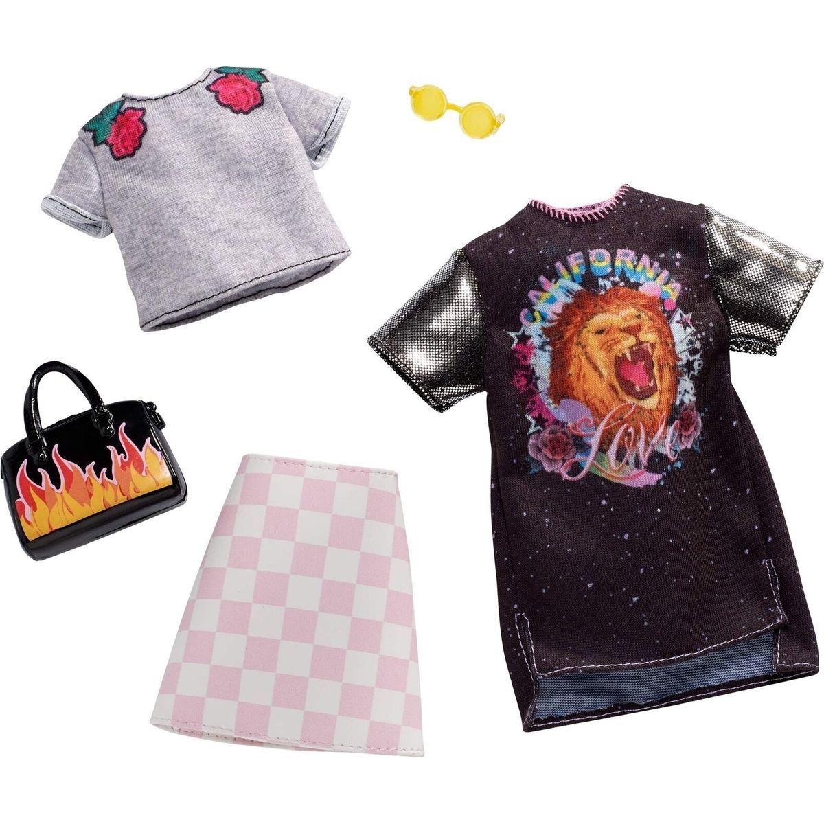 Mattel Barbie Dvoudílný set oblečení FXJ59