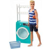 Mattel Barbie Ken s nábytkem a pračkou