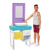 Mattel Barbie Ken s nábytkem umyvadlo