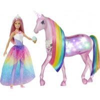 Mattel Barbie kouzelný jednorožec a panenka 4