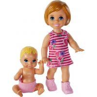 Mattel Barbie malí sourozenci holčička běloška