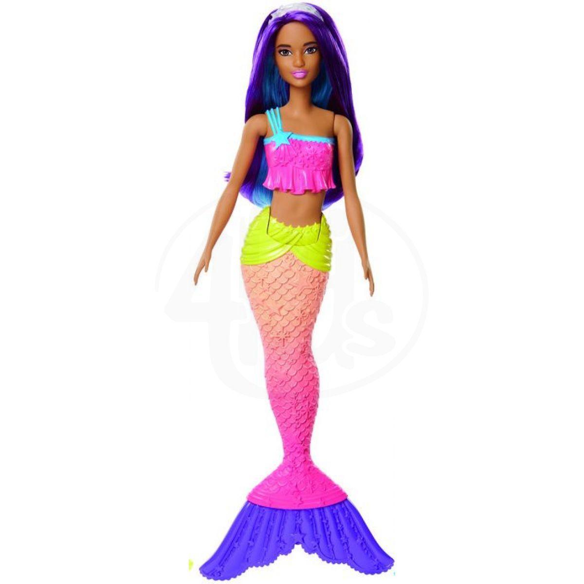 Mattel Barbie Mořská panna Fialové vlasy