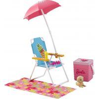 Mattel Barbie nábytek a doplňky Lehátko se slunečníkem