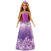 Mattel Barbie Princezna Hnědé vlasy Fialové šaty
