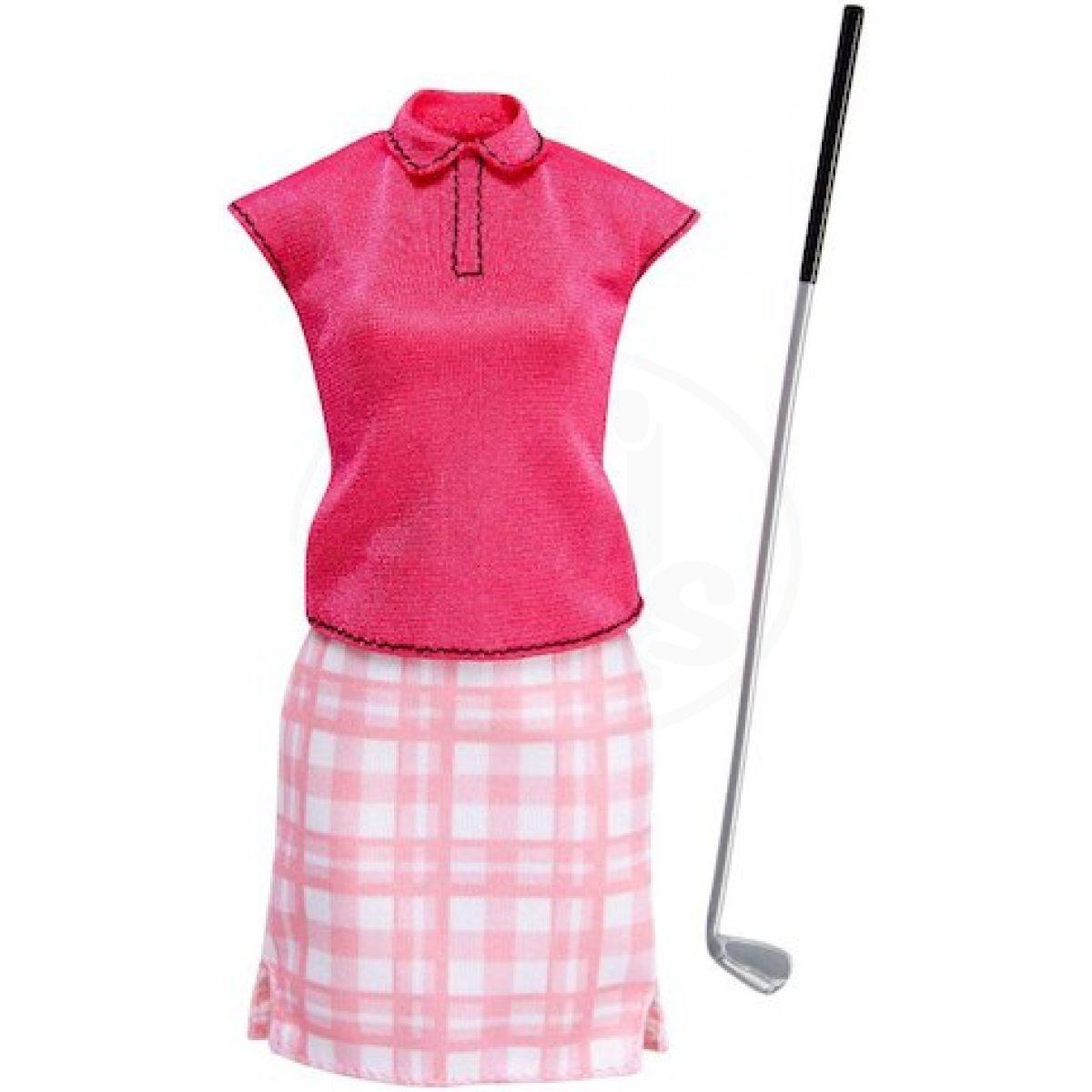 Mattel Barbie profesní oblečení s doplňky FKT14 Golf