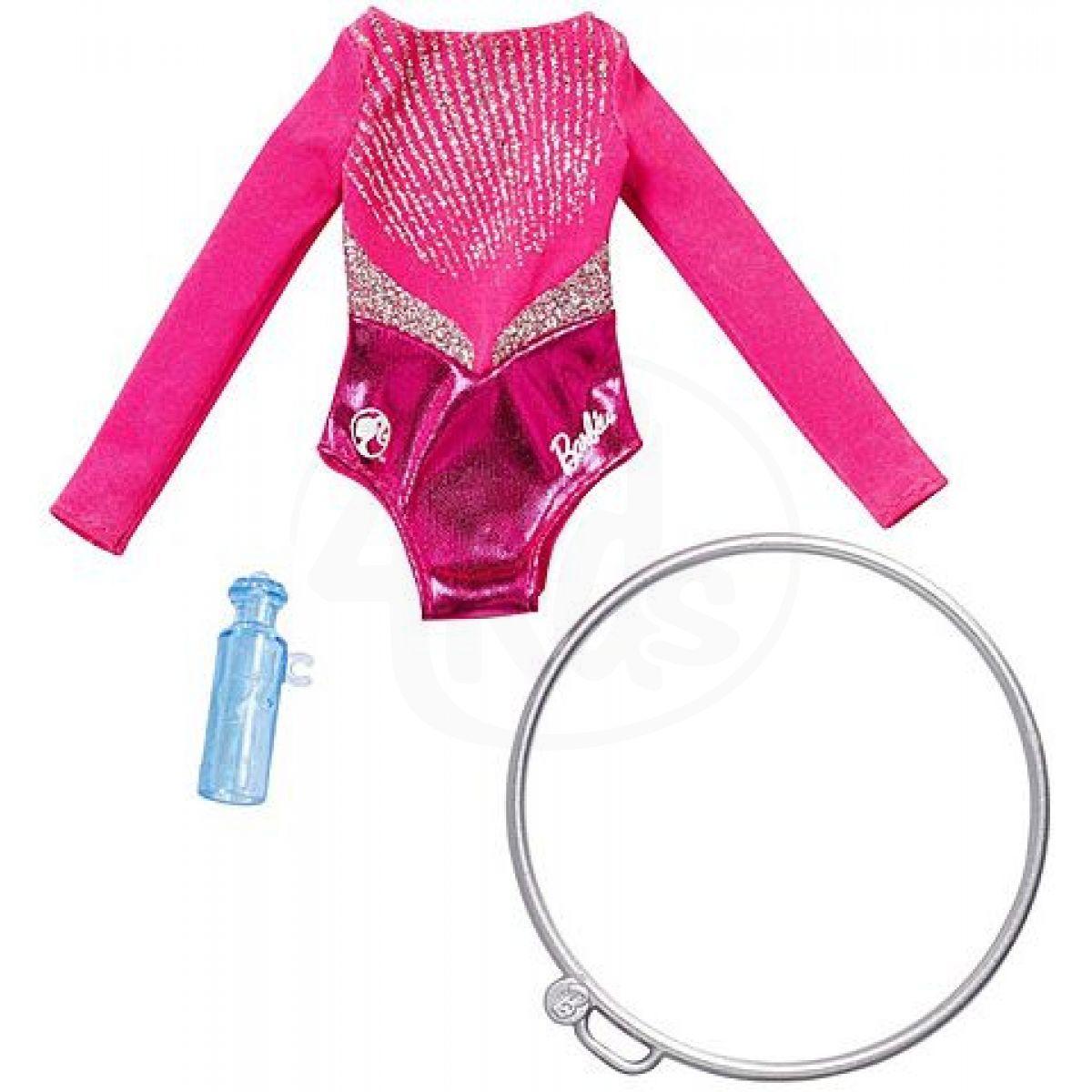 Mattel Barbie Profesní oblečení s doplňky Gymnastka