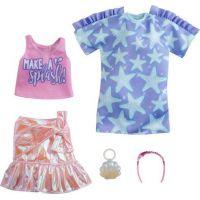 Mattel Barbie Sada oblečení Šaty s hvězdným potiskem GRC88