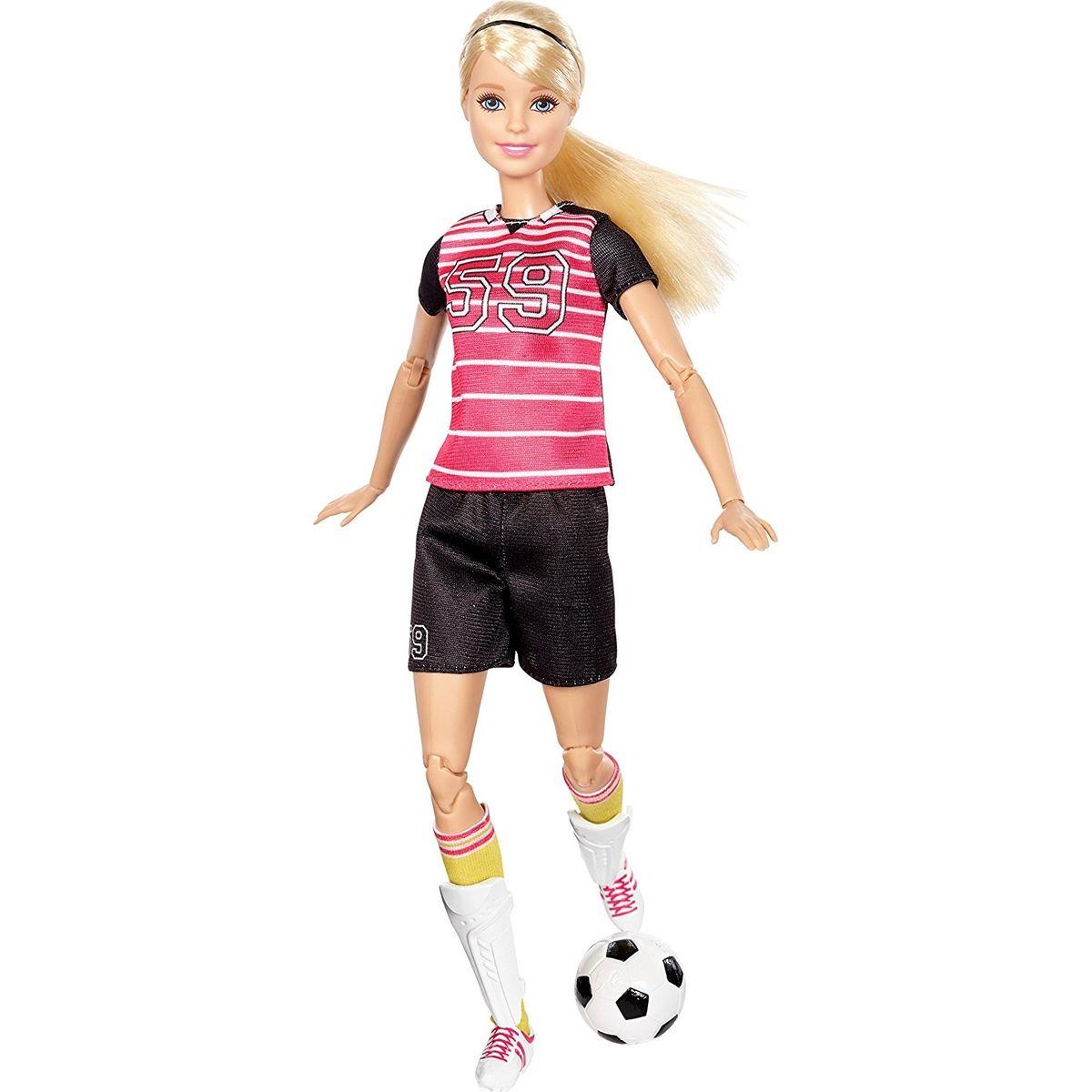 Mattel Barbie sportovkyně Fotbalistka blondýnka