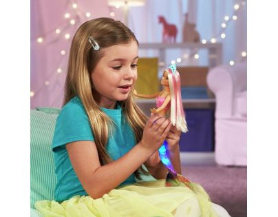 Mattel Barbie svítící mořská panna s pohyblivým ocasem běloška