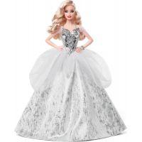 Mattel Barbie vánoční panenka blondýnka GXL18