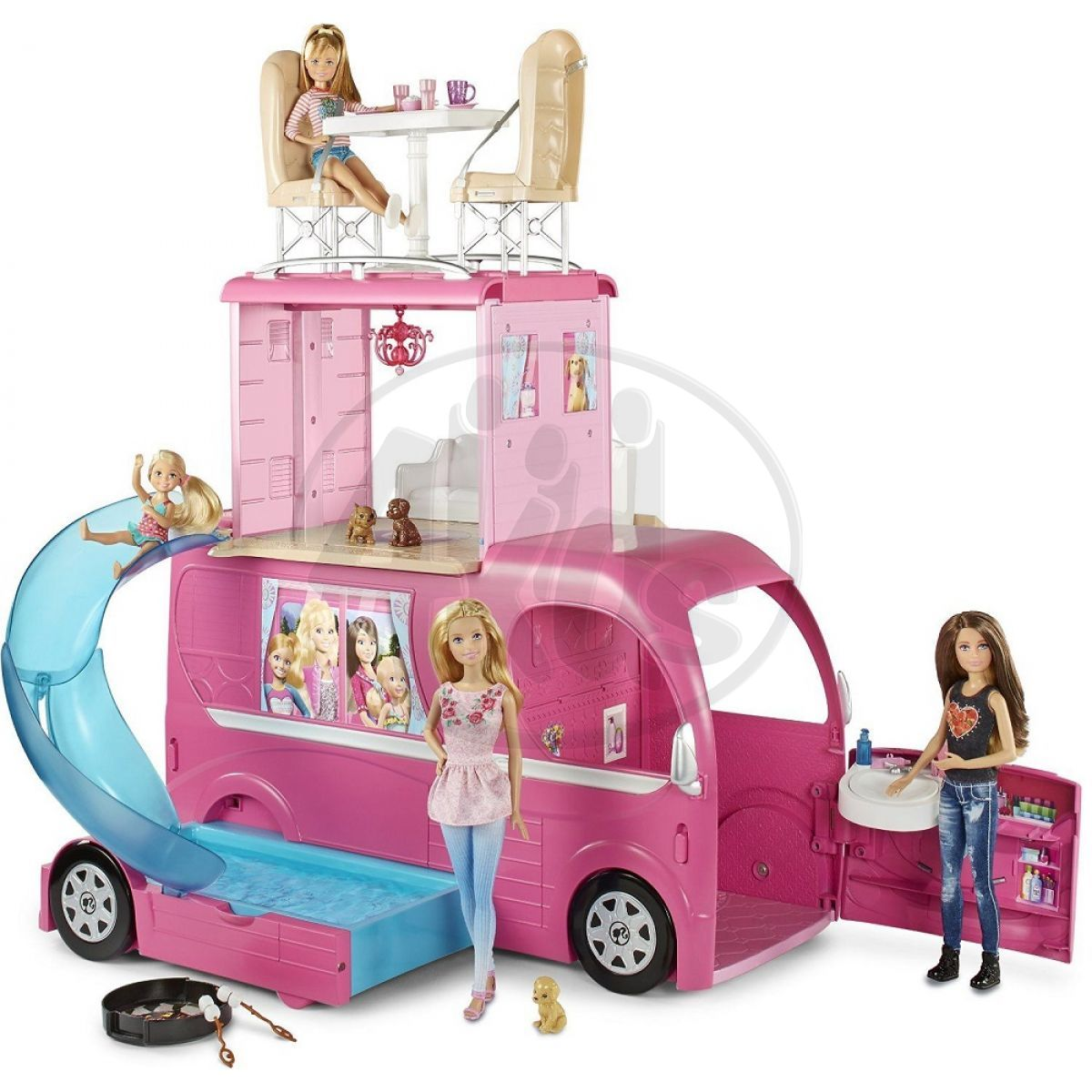 barbie velk karavan 4kids. Black Bedroom Furniture Sets. Home Design Ideas