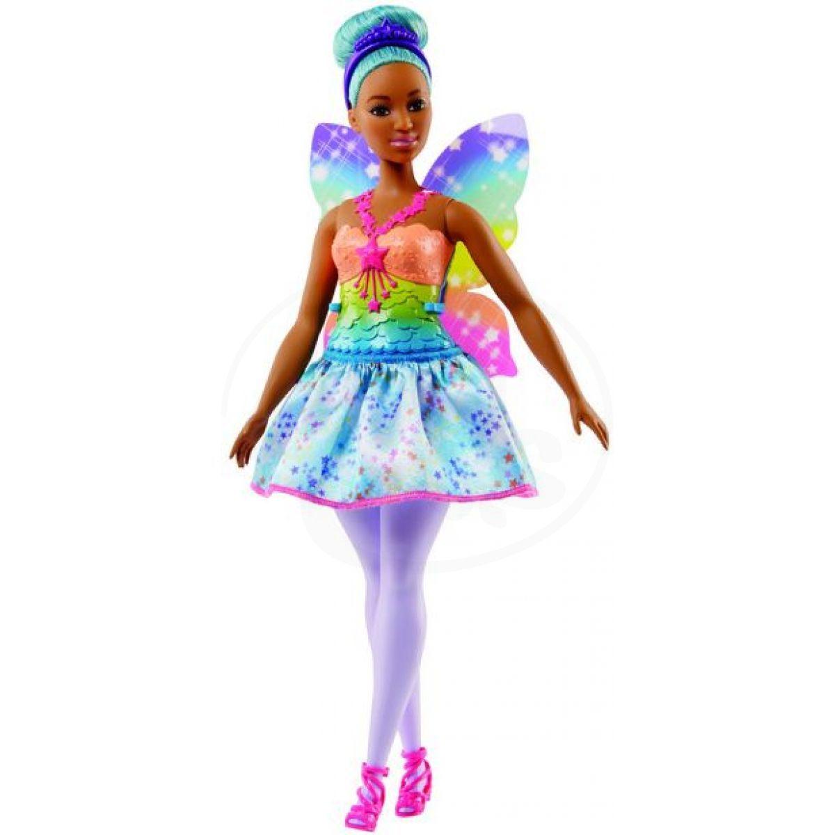 082497f0d46c Mattel Barbie Víla Zelené vlasy