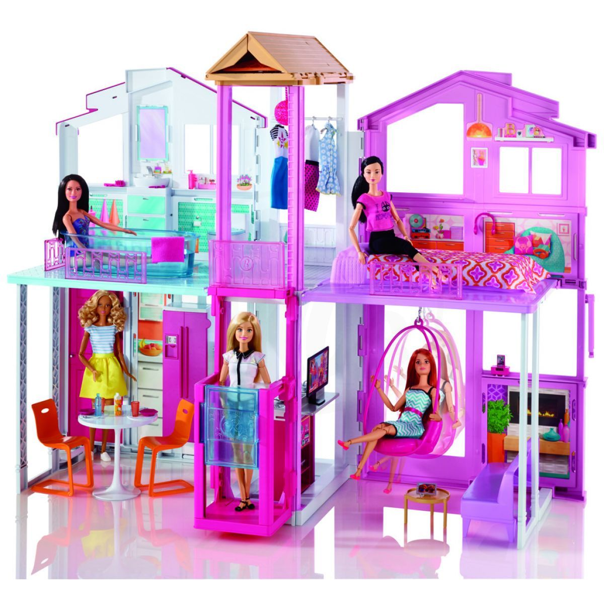 mattel barbie vilov domek 4kids. Black Bedroom Furniture Sets. Home Design Ideas