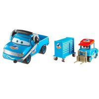 Mattel Cars 3 auta 2 ks Dinoco Pitty a Roger Wheeler