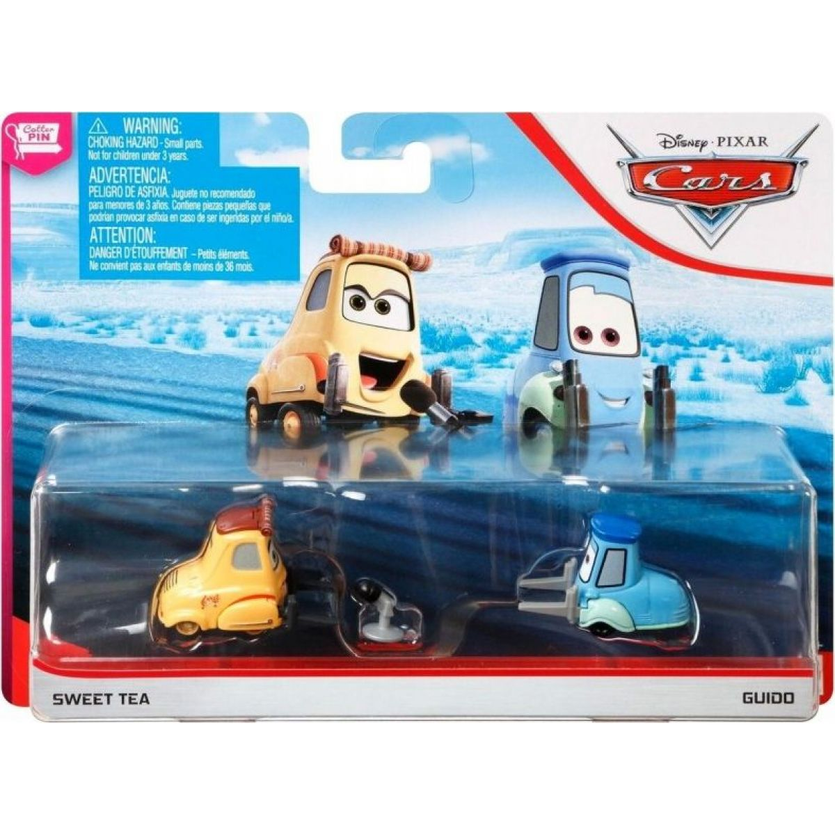Mattel Cars 3 auta 2 ks Sweet Tea a Guido