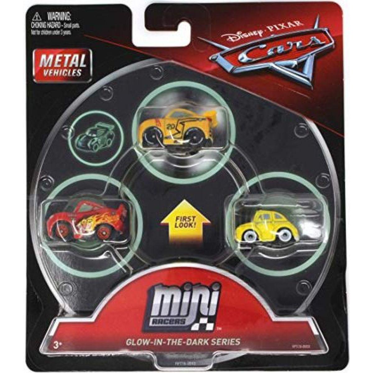 Mattel Cars 3 Mini auta 3ks Glow in the dark series FPT78
