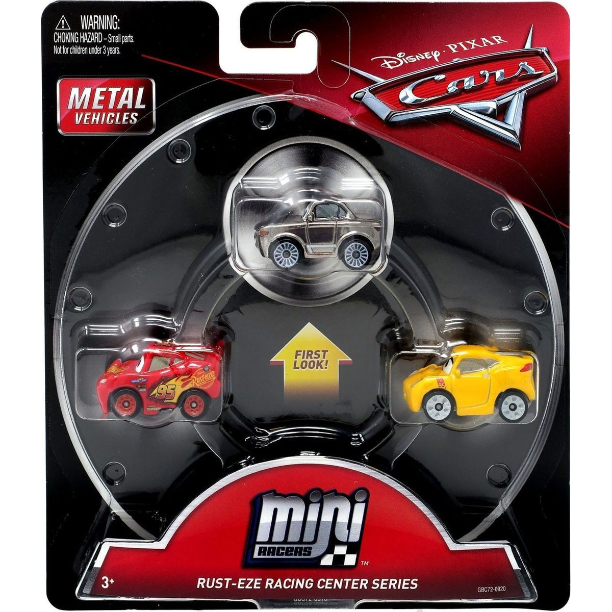 Mattel Cars 3 Mini auta 3ks Rust-Eze Racing Center Series GBC72