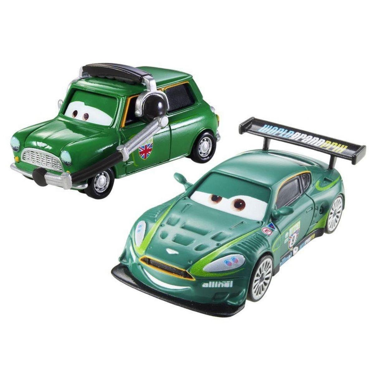 Mattel Cars 2 Autíčka 2ks - Nigel Gearsley a Austin Littleton
