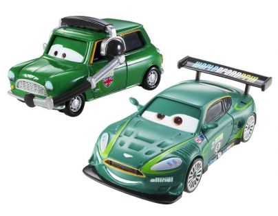 Mattel Cars 2 Autíčka 2ks - Nigel Gearsley a Austin Littleton