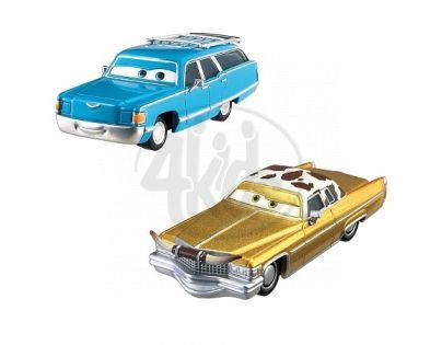 Mattel Cars 2 Autíčka 2ks - Mrs. The King a Tex Dinoco