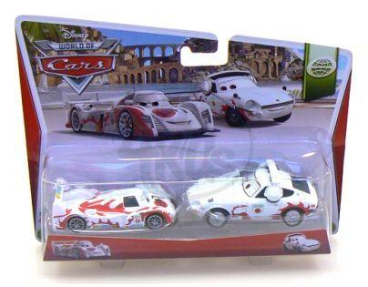 Mattel Cars 2 Autíčka 2ks - Shu Todoroki a Mach Matsuo