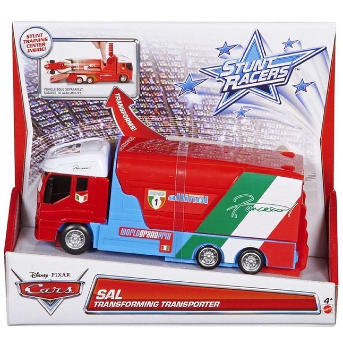 Cars kaskadérský transportér Mattel Y1320 - Francesco transporter