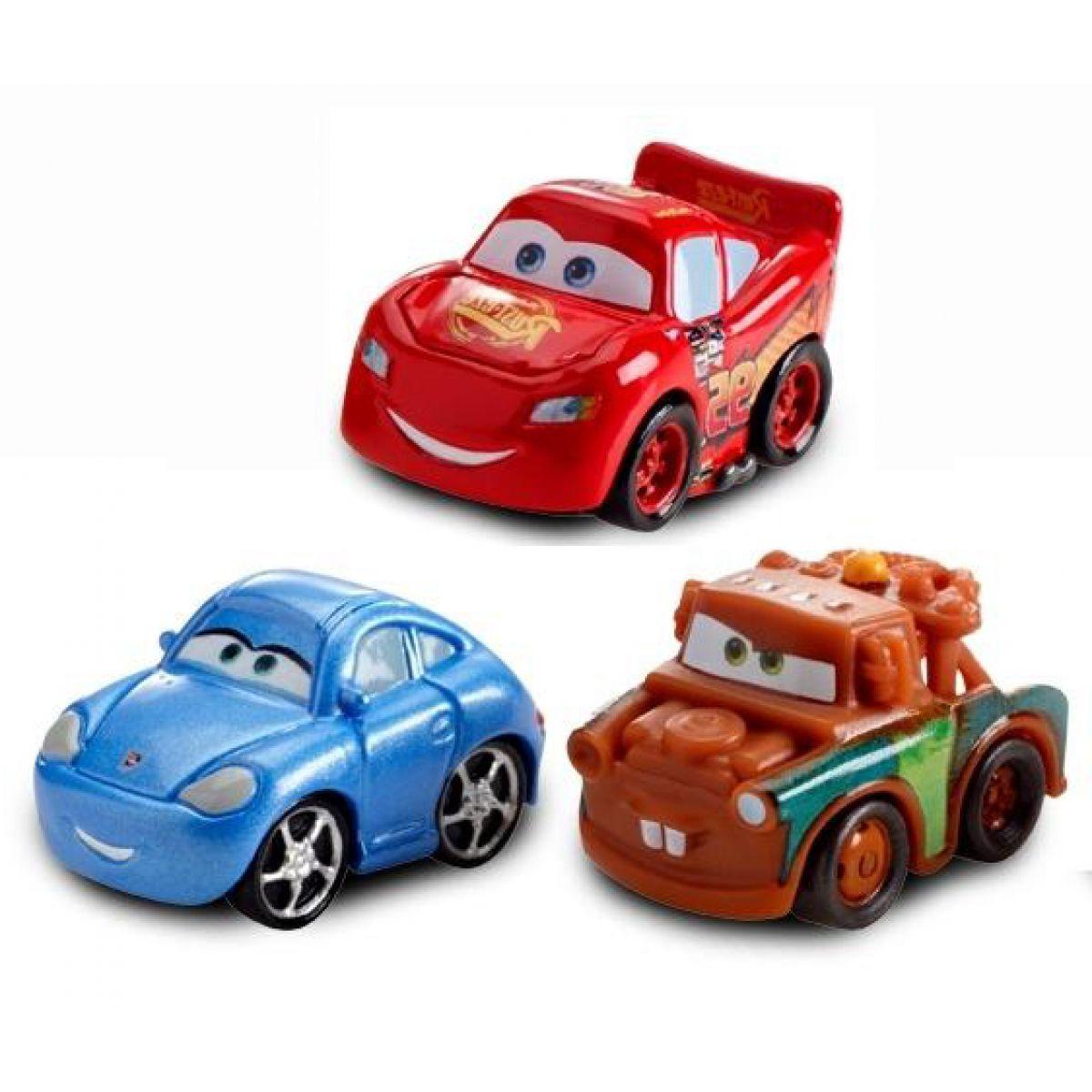 Cars Micro Drifters 3ks Mattel W7160 - Lightning McQueen, Sally, Mater