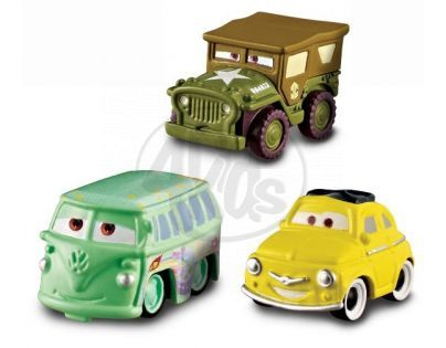 Cars Micro Drifters 3ks Mattel W7160 - Luigi, Race team Fillmore, Sarge