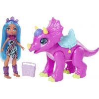 Mattel Cave Club bábika party Teil s dino zvieratkom