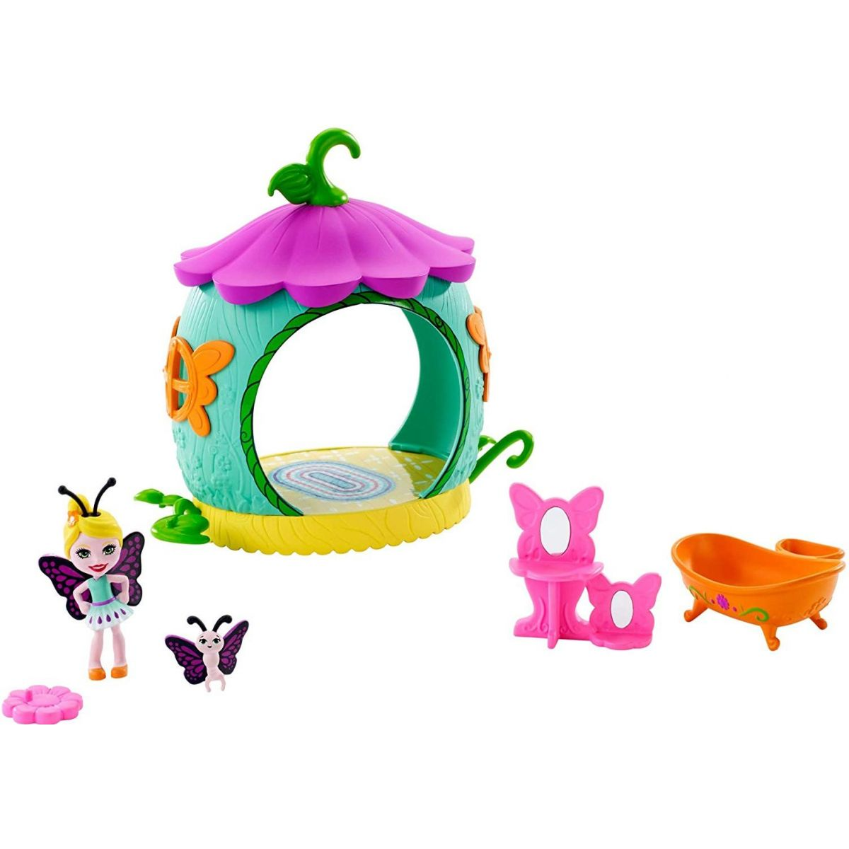 Mattel Enchantimals brouček s domečkem Coocon Bathroom FXM97
