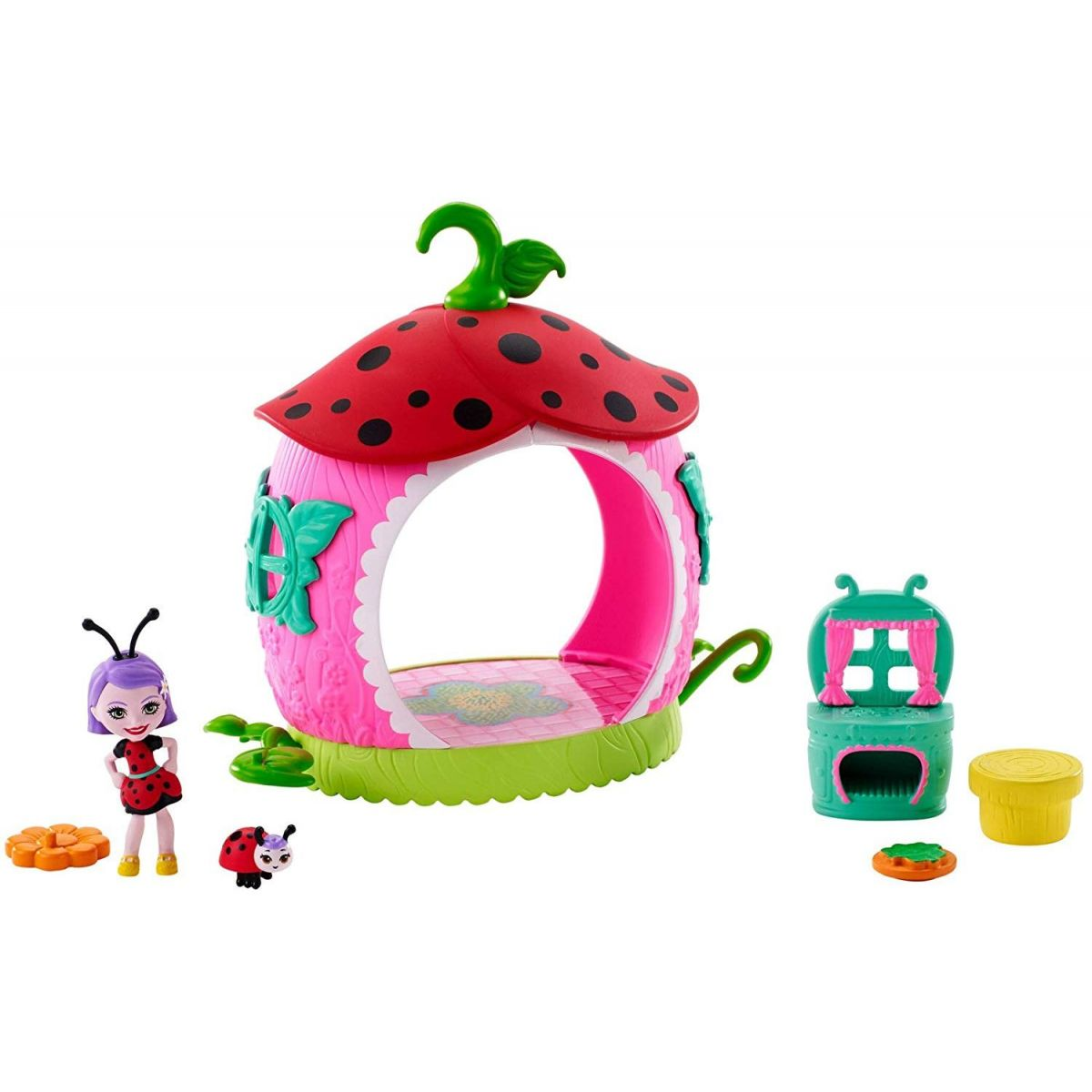 Mattel Enchantimals brouček s domečkem Teeny Kitchen FXM98