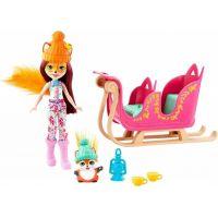 Mattel Enchantimals herní set na saních s liškou