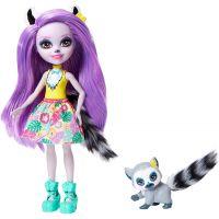 Mattel Enchantimals panenka a zvířátko Larissa Lemur a Ringlet