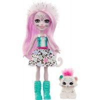 Mattel Enchantimals panenka a zvířátko Sybil Snow Leopard a Flake