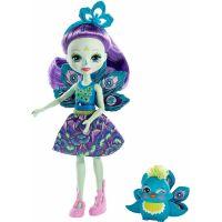 Mattel Enchantimals panenka se zvířátkem Patter Peacock a Flap