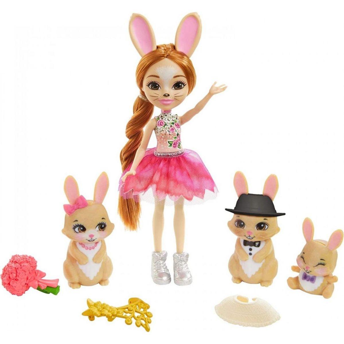 Mattel Enchantimals rodinka Zajíci