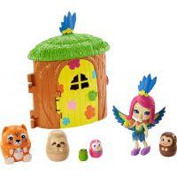 Mattel Enchantimals tajné útočiště nejlepších přátel Parrot Peeki Tree Hut