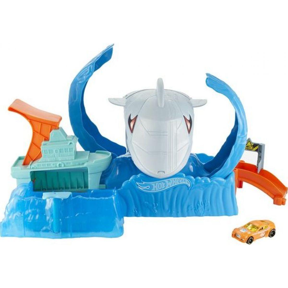 Mattel Hot Wheels city color shifters robo žralok útočí
