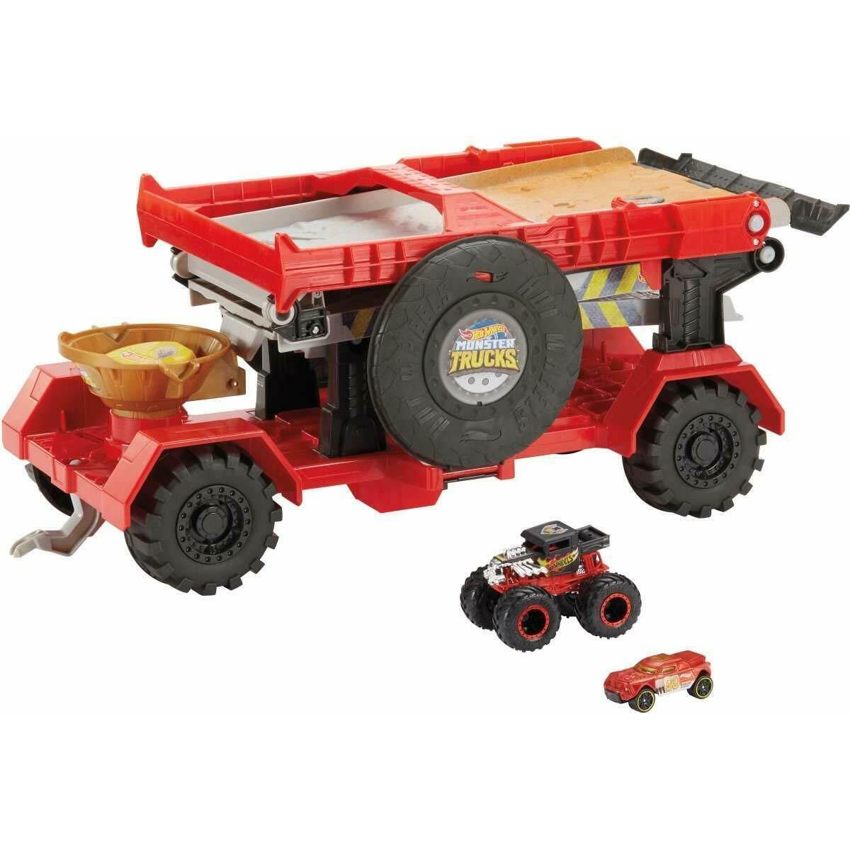 Mattel Hot Wheels Monster trucks závod z kopce 2v1