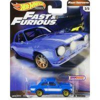 Mattel Hot Wheels prémiové auto Rychle a zběsile 1970 Ford Escort RS 1600