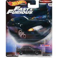Mattel Hot Wheels prémiové auto Rychle a zběsile Nissan Skyline GT-R BNR32