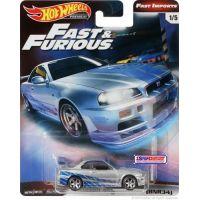 Mattel Hot Wheels prémiové auto Rychle a zběsile Nissan Skyline GT-R BNR34