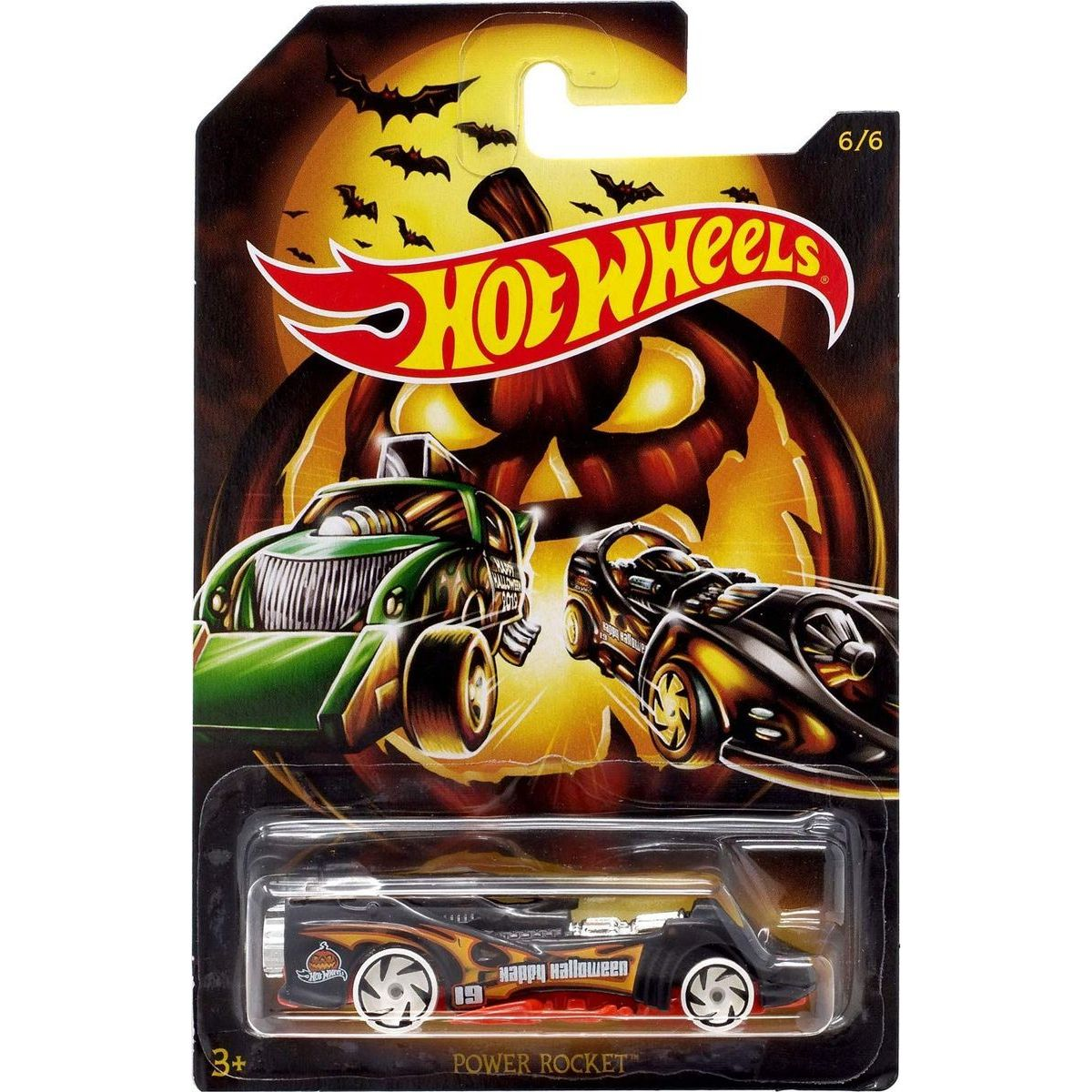 Mattel Hot Wheels tematické auto Halloween Power Rocket