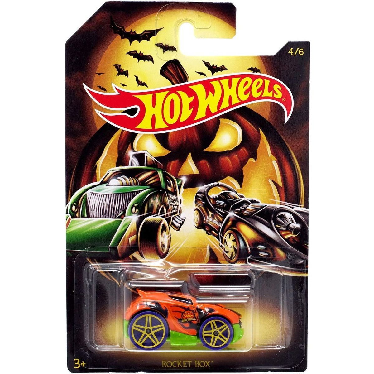Mattel Hot Wheels tematické auto Halloween Rocket Box